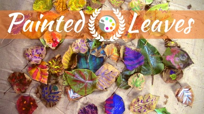 Drawing on Leaves with Oil Pastels | Art Project for Preschoolers