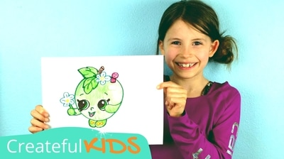 Apple Blossom drawing for kids | Shopkin Drawings | Createful Kids