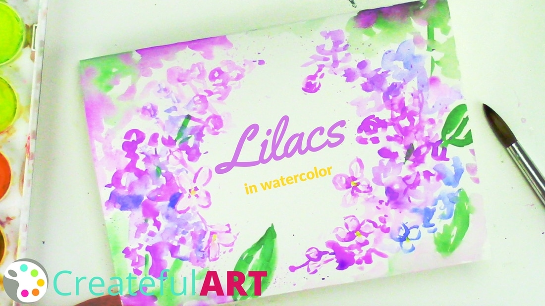how to paint lilacs with watercolors a mothers day card idea