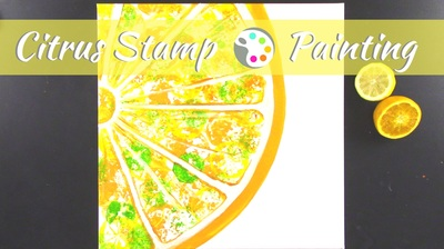 Citrus stamping for Kids | Family art project