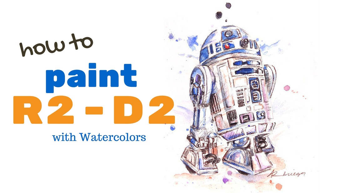 how to paint r2d2