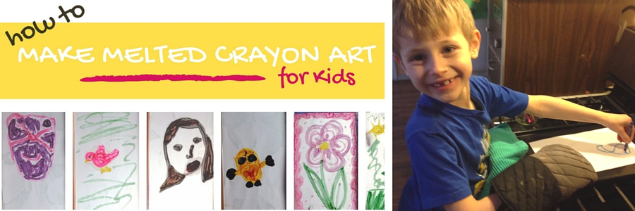 melted crayon art project for kids