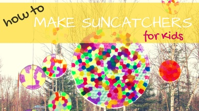 How to make Sun catchers with plastic beads | Art and Craft Project for Preschoolers