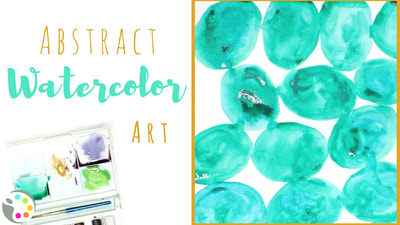 Abstract Circles with Watercolors | Painting Projects for Preschoolers