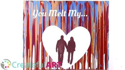 You melt my heart art decor for Valentine's Day