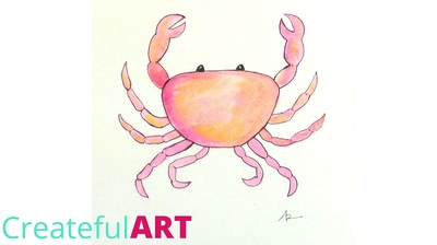 How to draw a crab | Createful Kids