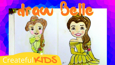 how to draw Belle from Beauty and the Beast