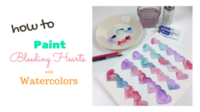 Watercolor hearts | Valentine's Day Art Project for Kids | Createful Kids