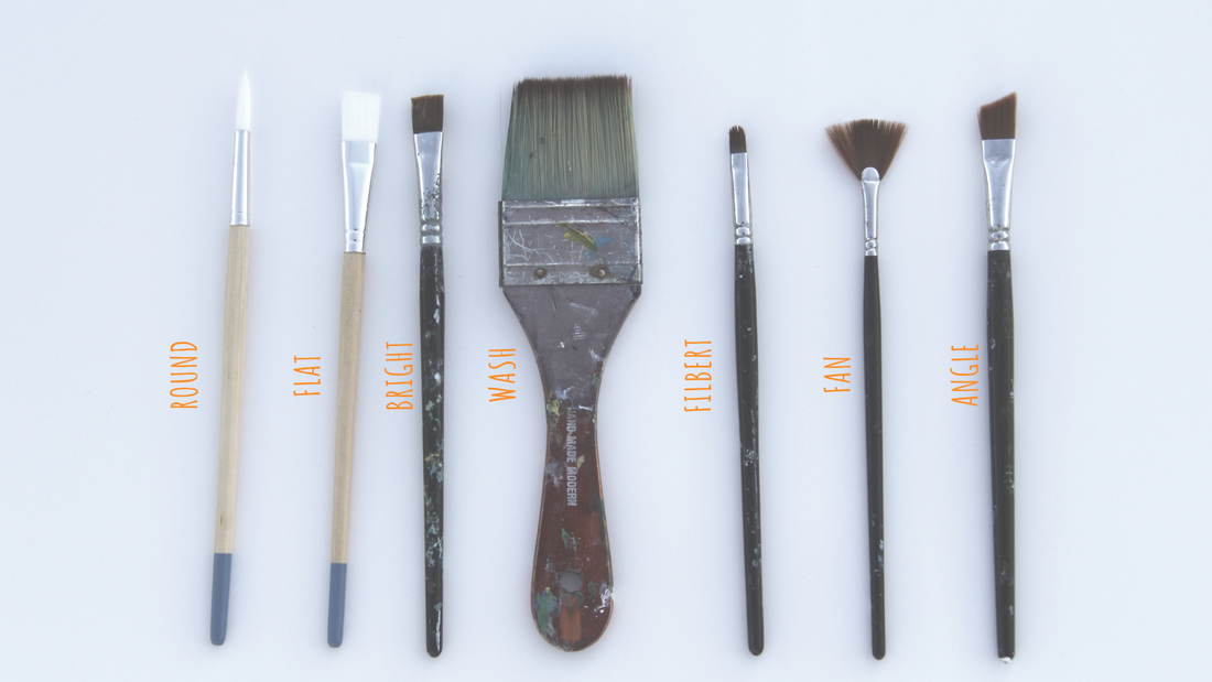 Acrylic painting brushes and what they do