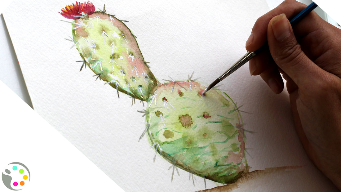 how to paint a cactus