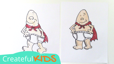 How to draw Captain Underpants | Createful Kids