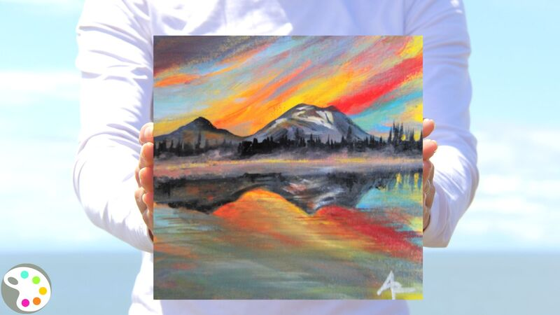 How to Paint a Mountain on a Lake