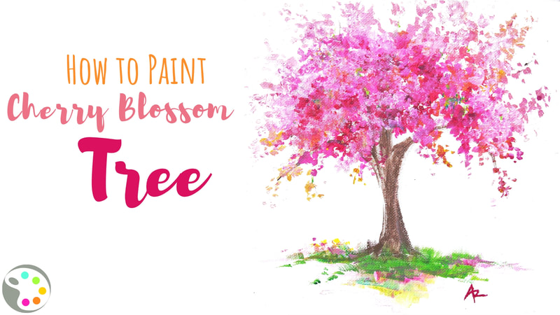 How to paint a cherry blossom tree