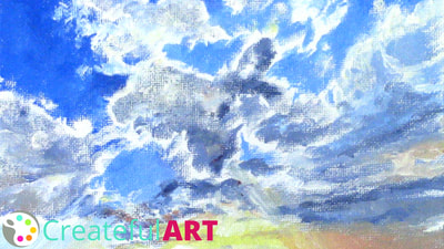 How to paint clouds with acrylics.