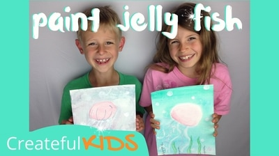 How to paint a jelly fish for kids | Createful Kids