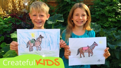 How to draw a horse | Createful Kids