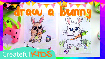 how to draw a bunny for kids
