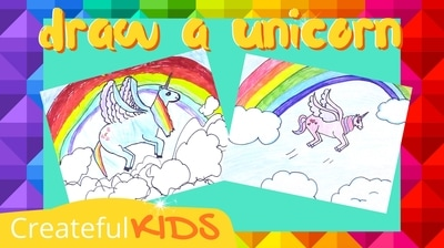 How to draw a Unicorn | Createful Kids