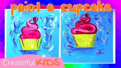 How to paint a cupcake for Valentin'es Day | Createful Kids