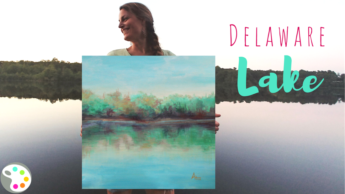 Delaware Lake Painting | How to Paint a Lake