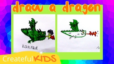 How to draw a dragon | Createful Kids