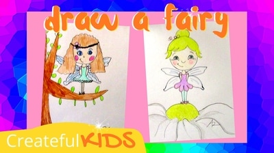 How to draw a fairy for kids | Createful Kids
