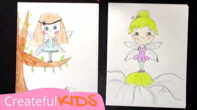 How to draw a fairy | Createful Kids