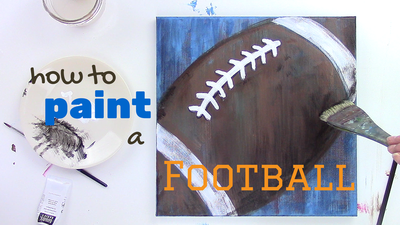How to paint a football | Createful Kids Painting