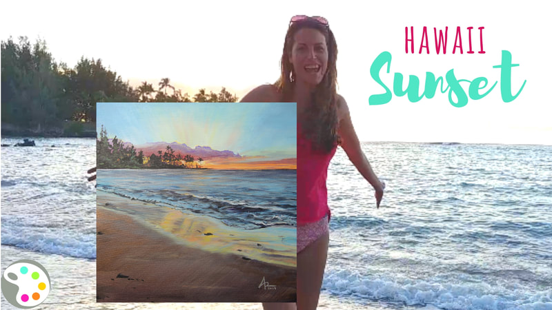 How to Paint a Sunset on the Beach | Seascape | Acrylic Painting Tutorial