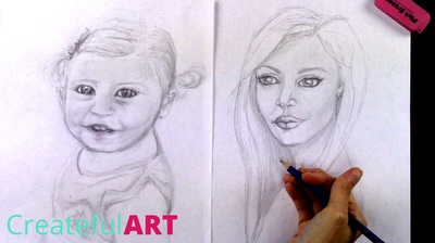 How to draw a portrait. Kids and adult portraits.