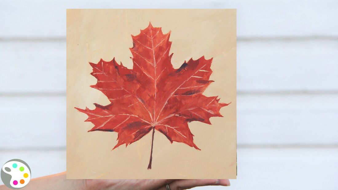 how to paint a fall maple leaf