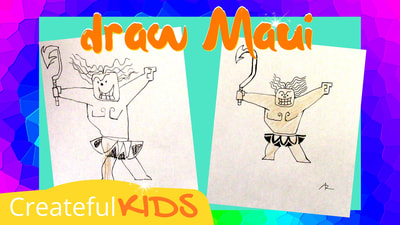 How to draw Maui | Createful Kids