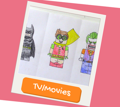TV and movie drawing and paintings for kids