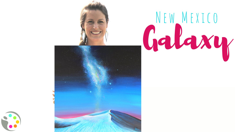 How to Paint a sand dune and galaxy