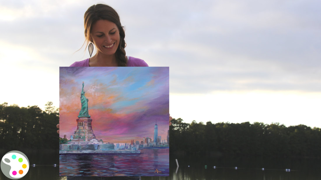 New York Painting by artist Ashley Krieger