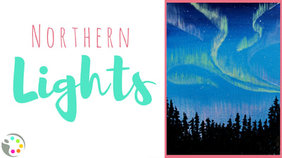 How to paint the northern lights with acrylics.