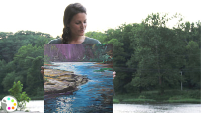 How to paint a river with acrylics.