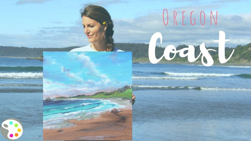 How to paint the Oregon coast
