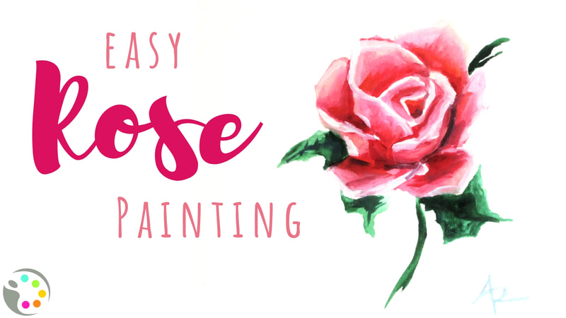 How to paint a rose