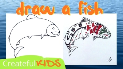 How to draw a fish | Createful Kids