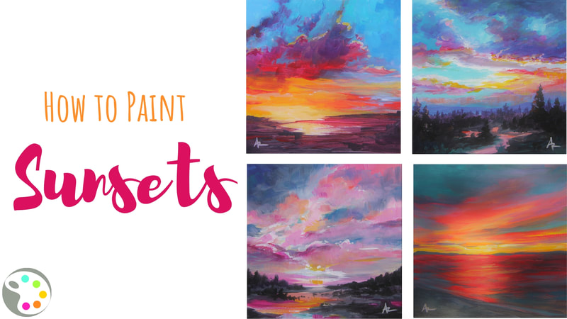 How to paint sunsets with acrylics