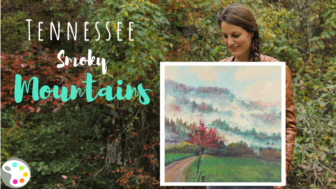 Tennessee Painting and Painting Lesson with artist Ashley Krieger