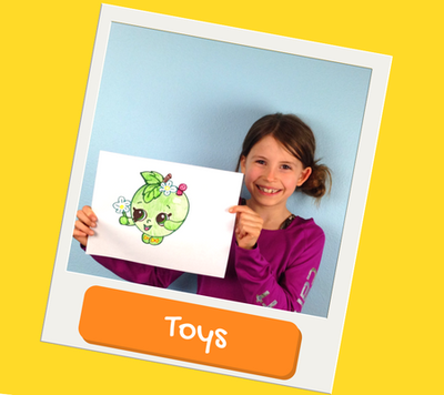 Toy drawings and paintings for kids
