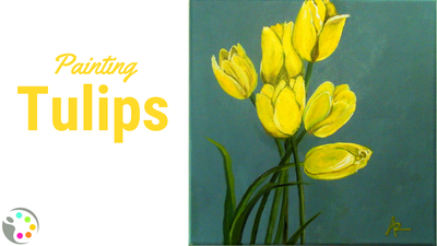 How to paint tulips with acrylics