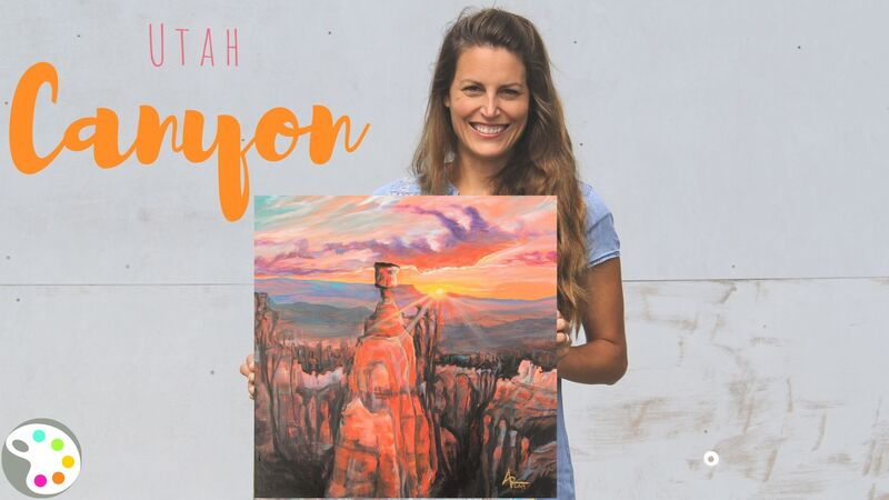 How to paint a Utah landscape scene