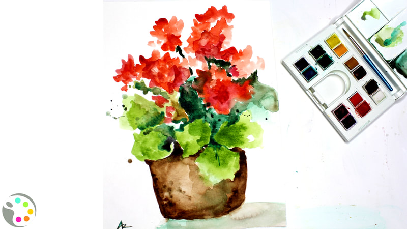 summer watercolor projects
